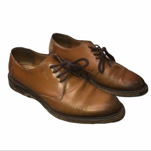 GUCCI Mens Brown Leather Lace-Up Oxford Ombre Shoe